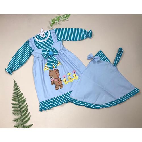 Foto Produk gamis muslim bayi gamis anak bayi perempuan polka dari babyclothingco