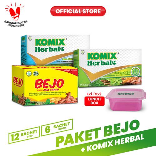 Foto Produk Paket Bejo + Komix Herbal Masuk Angin 2 FREE Komix Lunchbox dari Bintang Toedjoe Official