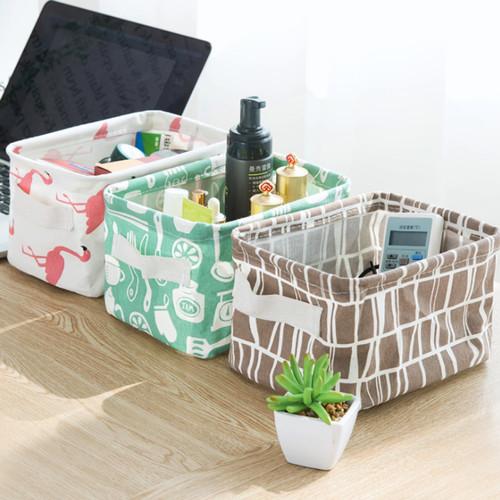 Foto Produk Keranjang Kecil Dekstop Storage / Kotak Penyimpanan Serbaguna - Hijau Bangau dari MitraBotol