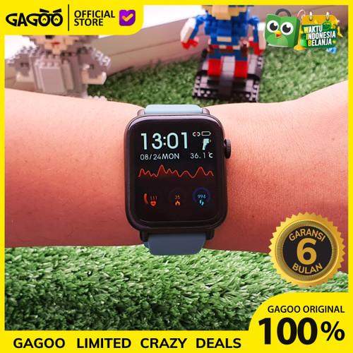 Foto Produk Apple Watch Alternatif - Smartwatch G1 Thermometer + Blood Pressure - Hitam dari Gagoo Official Store