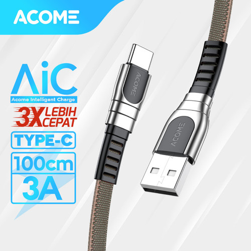 Foto Produk ACOME Kabel Data/Charger Type-C Quick Charge 3.0 Fast Charging AKC-010 - Type-C 1m dari Acome Indonesia
