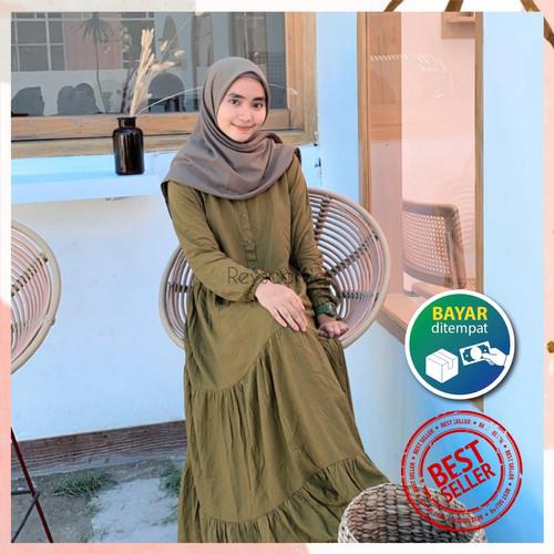 Foto Produk Luxury Homey Dress Plain by Reyscarf Rayon Viscose Premium Eksklusif - Hitam, L dari Reyscarf