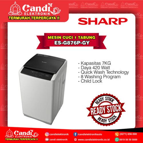 Foto Produk SHARP MESIN CUCI 1 TABUNG TOP LOADING ES-G876P-GY dari Candi Elektronik Solo