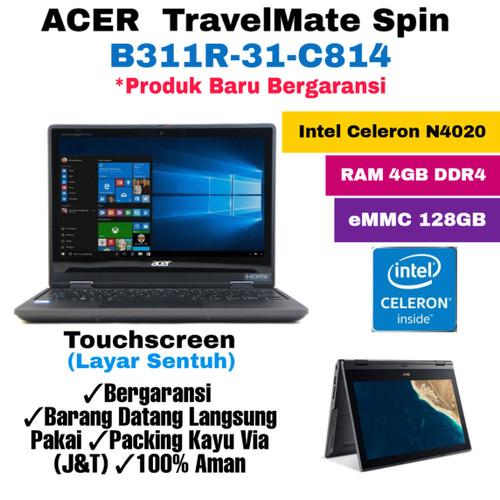 Foto Produk Laptop Acer TravelMate Spin B311R-31-C814/Intel N4020/4GB/128gb/Touchs dari mkp accessoriess
