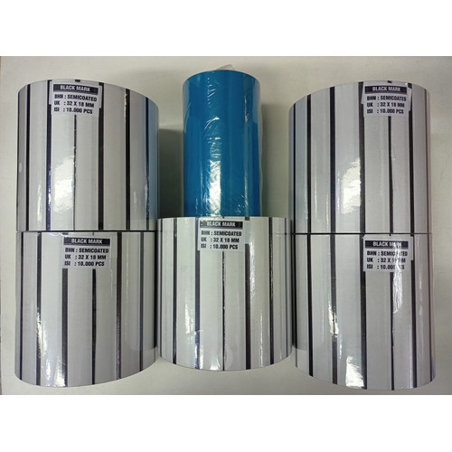 Foto Produk PAKET Label Barcode Blackmark 32x18 5 pcs + Ribbon Wax 300M 1 pcs dari PojokITcom Pusat IT Comp