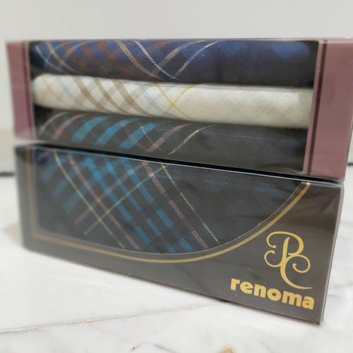 Foto Produk Sapu Tangan Pria CK /1box /3pcs (black, navy, grey) - Renoma dari M n M Towel Home Style