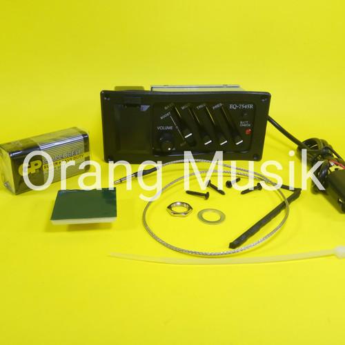 Foto Produk Preamp EQ 7545 R - Pick Up Gitar Akustik Elektrik - Equalizer Gitar dari Orang Musik