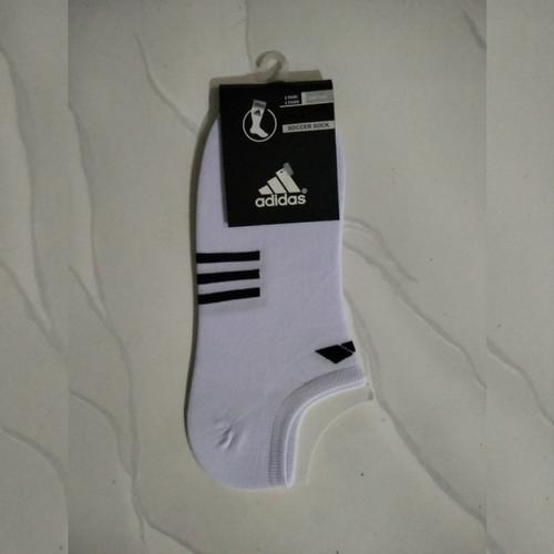 Foto Produk Kaos Kaki Pendek Semata Kaki | Ankle Hidden Sport Sock - ADIDAS PUTIH dari PITUDUS