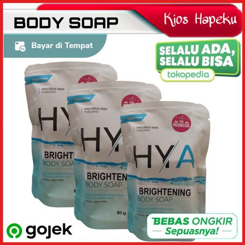 Foto Produk HYA BRIGHTENING BODY SOAP/SABUN PEMUTIH BADAN/SABUN MANDI PENCERAH 80g dari kios hapeku