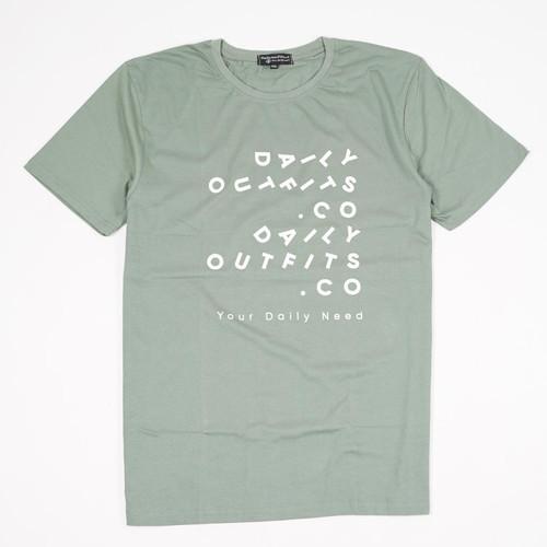 Foto Produk Daily Outfits Shortsleeve Tees Kaos Fave Green Premium Quality - M dari Daily Outfits DYO