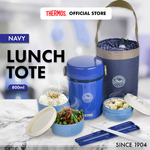 Foto Produk Thermos Vacuum Lunch Tote Insulated Navy Blue (JBC-801-NVP) dari Thermos Indonesia