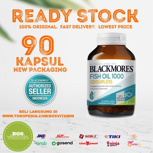 Foto Produk Blackmores Odourless Fish Oil 1000mg BPOM Kalbe - 90 kapsul dari Bos Vitamin