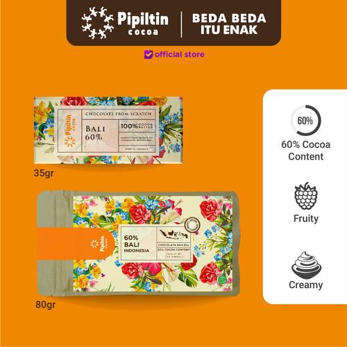 Foto Produk Chocolate Bar Bali 60% - 35gr dari Pipiltin Cocoa