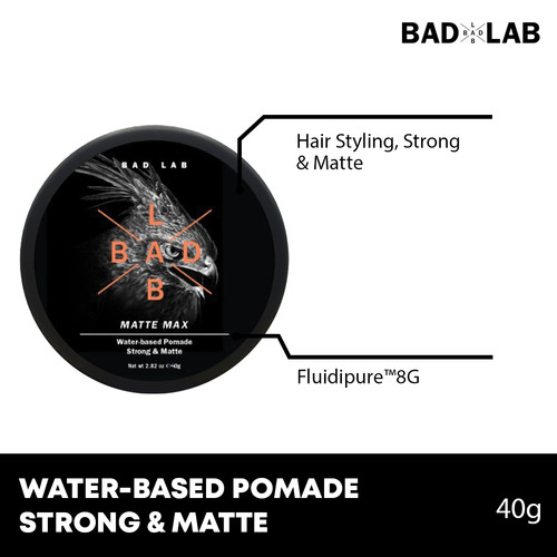 Foto Produk BAD LAB Matte Max Strong & Matte Water-Based Pomade dari Badlabco