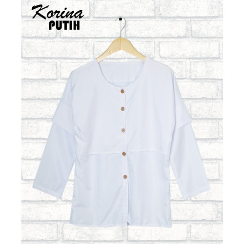 Foto Produk FortKlass KORINA Baju atasan blouse wanita lengan panjang - Putih dari FortKlass