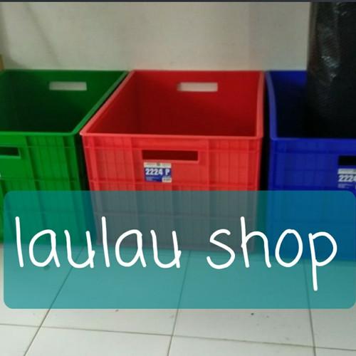 Foto Produk 80x60x45 Box Container Green Leaf 2224 P Keranjang Industri Bak Kolam dari laulau