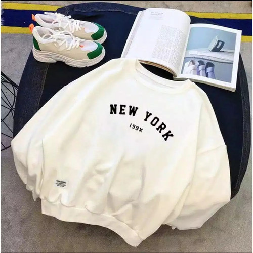 Foto Produk Sweater basic pria wanita (new york 199x) - abu tua, M dari Centralindo88