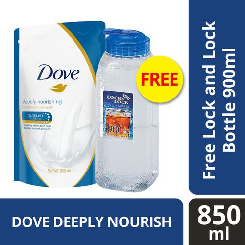 Foto Produk Dove Body Wash Deeply Nourishing Refill 850Ml free Lock&Lock 900ml dari Unilever Official Store