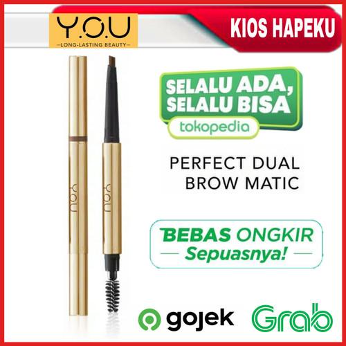 Foto Produk Kosmetik YOU Perfect Dual Brow Matic/Pensil Alis Original BPOM - DARKBROWN dari kios hapeku
