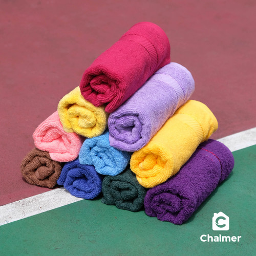 Foto Produk Handuk Sport Chalmer 34 x 80 cm Handuk Muka - RANDOM dari Chalmer