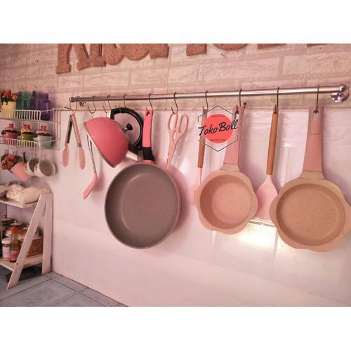 Foto Produk Kapstok Gantungan Panci Peralatan Dapur Kitchen Stainless 100 CM - Pipa Sedang dari Tokoboll