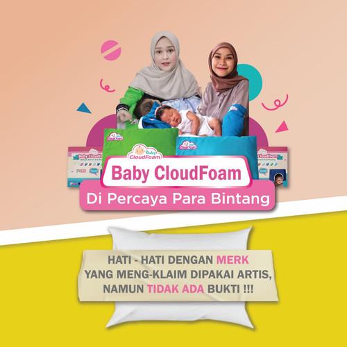 Foto Produk PAKET ISI 2 BANTAL BAYI ANTI PEYANG BABY CLOUDFOAM KULIT KACANG HIJAU - Ungu dari @M_Store