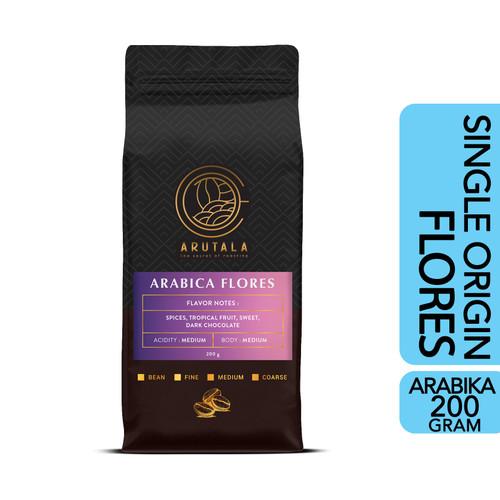 Foto Produk ARUTALA Kopi Flores Bajawa Arabika Arabica Coffee 200 gram - Giling Halus dari Arutala Online Co.