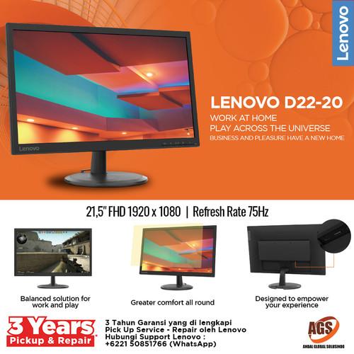 Foto Produk Lenovo LED Monitor D22-20 21.5 inch dari Myclub
