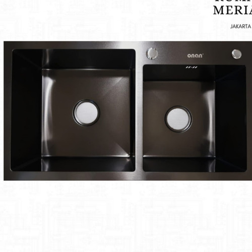 Foto Produk Kitchen sink ONAN ORI 8245 black /Bak cuci piring hitam dari GROSIR SANITARY80