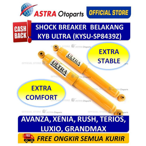 Foto Produk Shock KAYABA 4W KYB - Ultra Series untuk Toyota Avanza KYSU-SP8439Z dari Astra Otoparts