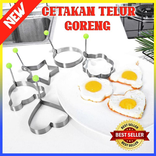 Foto Produk Cetakan Telur Ceplok Mata sapi Bentuk Karakter Stainless Steel 100338 - Random dari Indo Shop Jakarta