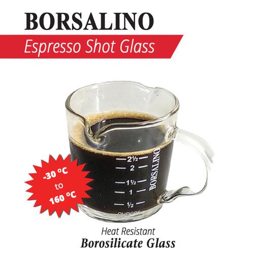 Foto Produk Borsalino Borosilicate Espresso Shot Glass Double Spout 70 ml dari Kopi Jayakarta
