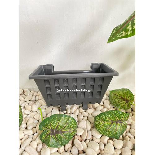 Foto Produk Pot Tanaman Merambat Plastik Gantung Tempel Argo Hitam Hijau - Hitam dari Toko Debby