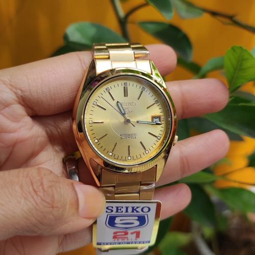 Foto Produk JAM TANGAN SEIKO 5 SERIES AUTOMATIC - Gold, Box Kardus dari grojam