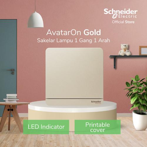 Foto Produk Schneider Electric AvatarOn Saklar Lampu Gold - 1 Gang 1 Arah dari Schneider Electric Home