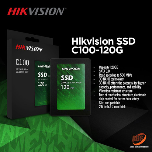 Foto Produk HIKVISION SSD C100 120G dari Myclub