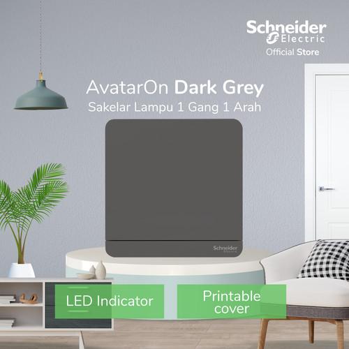 Foto Produk Schneider Electric AvatarOn Saklar Lampu Grey - 1 Gang 1 Arah dari Schneider Electric Home
