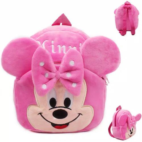 Foto Produk Tas anak perempuan bonus jam / Tas anak laki laki / Tas karakter lucu - Minnie Mouse dari fina fani store