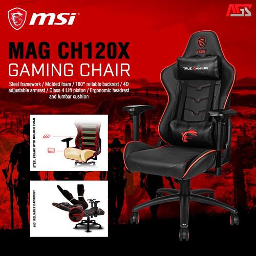 Foto Produk MSI MAG CH120X GAMING CHAIR - KURSI GAMING dari Apparel Gaming