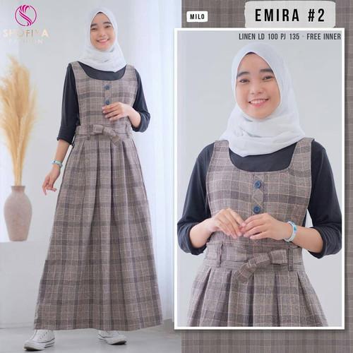 Foto Produk stelan overall wanita emira set fashion remaja masakini murah dari yuwikeolshop