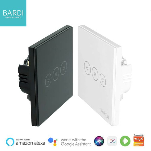 Foto Produk BARDI Smart Light Wall Switch Touch Saklar Lampu Sentuh Wifi EU 3 Gang - Putih dari Smart Home Devices