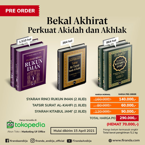 Foto Produk Paket 3 Judul - Perkuat Akidah dan Akhlak - Dr Firanda Andirja, MA dari Marketing Uf Office