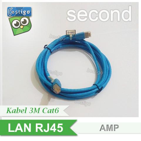 Foto Produk Kabel LAN AMP Patch Cord Cat6 RJ45 Panjang 3 Meter Siap Pakai dari BESTIGO PABX TELEPON