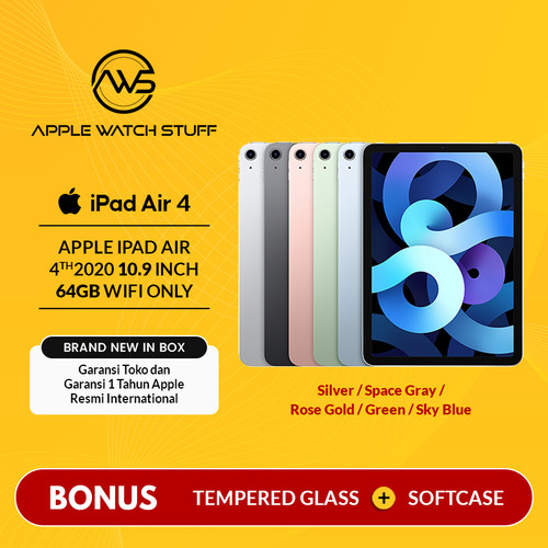 Foto Produk Apple iPad Air 4 / 4th Gen 2020 10.9 Inch 64gb Wifi Only BNIB - Space Grey dari applewatchstuff
