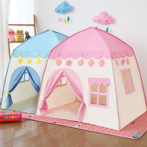 Foto Produk Tenda Rumah Mainan Anak / Tenda Anak Terbaru Play Flower Castle RS66 - Merah Muda dari MitraBotol