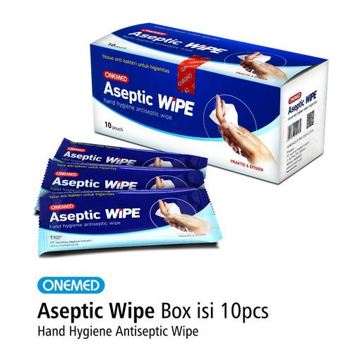 Foto Produk Aseptic Wipe Tissue Antiseptik Steril Wipe Onemed Box isi 10 pcs dari Onemed.Jakarta