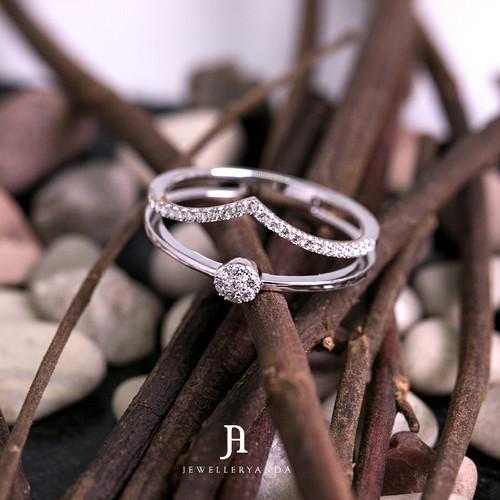 Foto Produk Calesta Ring - Diamond Ring - Jewelleryanda - 10 dari jewelleryAnda_