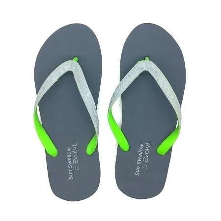Foto Produk PAKET ISI 2 Sandal Jepit Sun Swallow Evolve Khusus Size 10.5 - 10.5, Hitam Biru dari 89stories