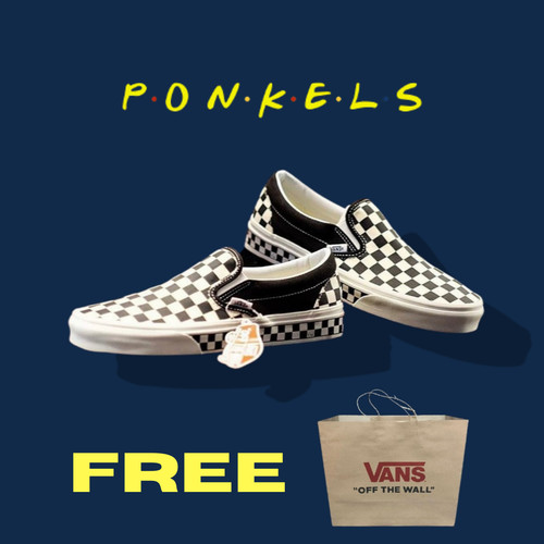 Foto Produk VANS SLIP-ON NEXTOR CHECKERBOARD BLACK WHITE ORIGINAL dari ponkel trusted store