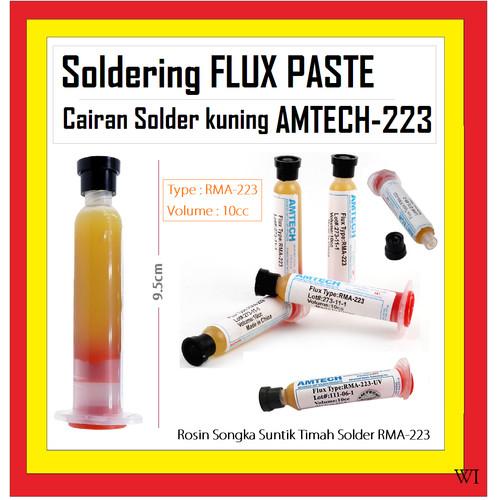 Foto Produk TOOL CAIRAN FLUX SOLDER PASTA PASTE TIMAH SOLDER AMTECH 223 OC 800120 dari regenboog